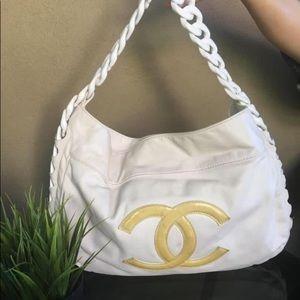 Chanel Lambskin Handbag White